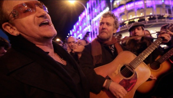 Bono and Glen Hansard Busking