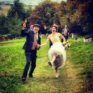 Our wedding in Glebe Gardens, West Cork.